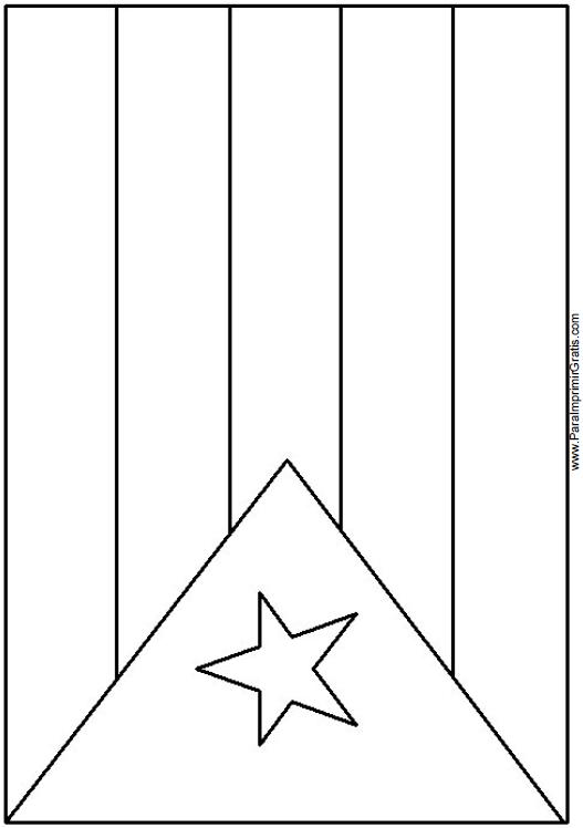 Bandera de Cuba para Colorear - Para Imprimir Gratis ...