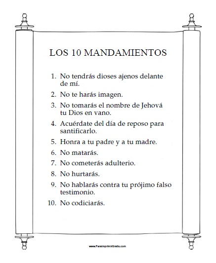 Mandamientos Del Matrimonio Catolico : Lista de los diez mandamientos bing images