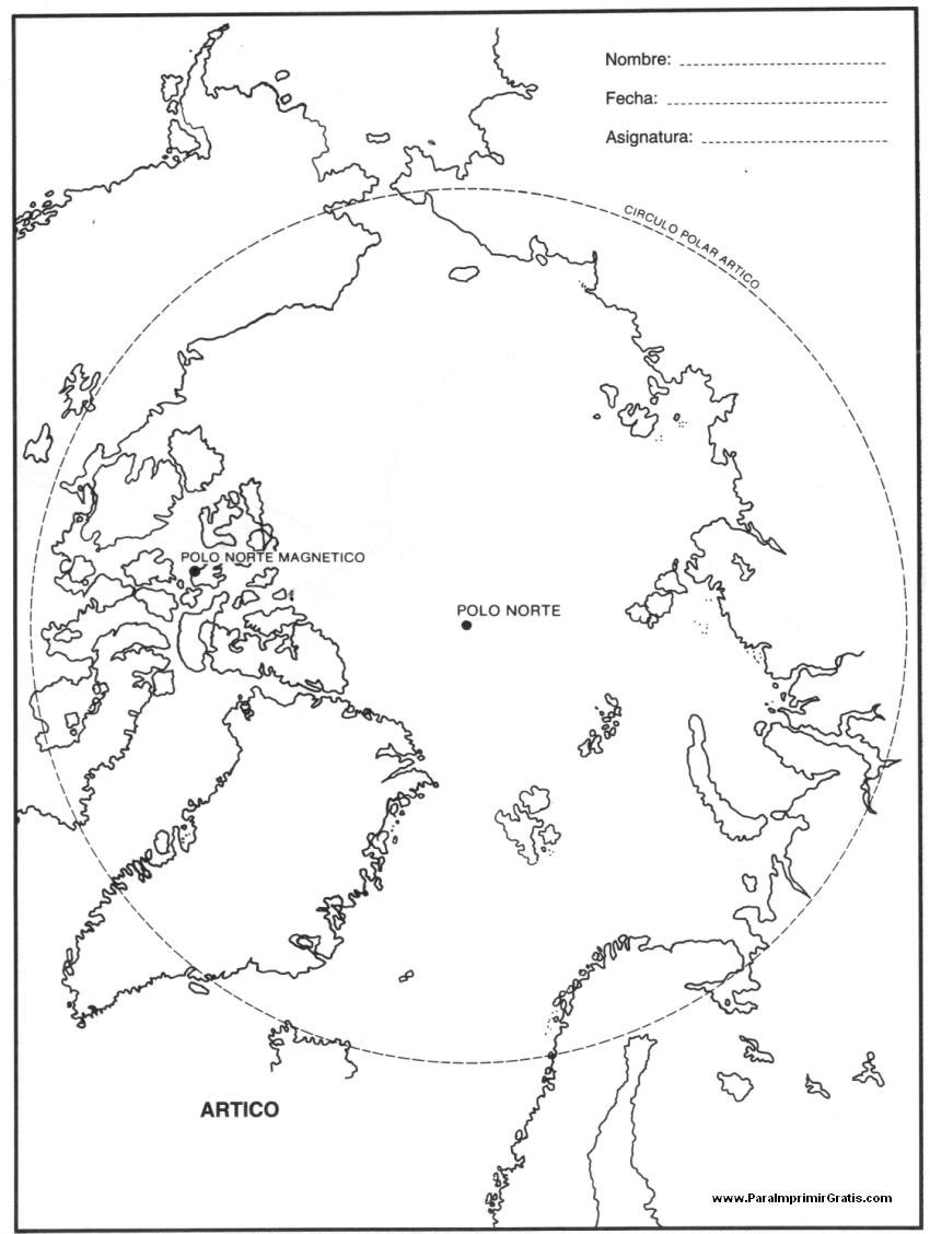 Mapa del Ártico - Para Imprimir Gratis - ParaImprimirGratis.com