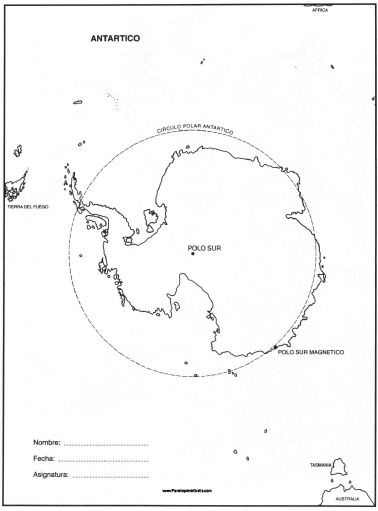 mapa del polo sur