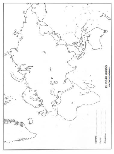 Mapa del Viejo Mundo  Para Imprimir Gratis  ParaImprimirGratiscom