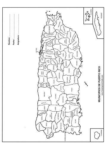 mapas de puerto rico para colorear images