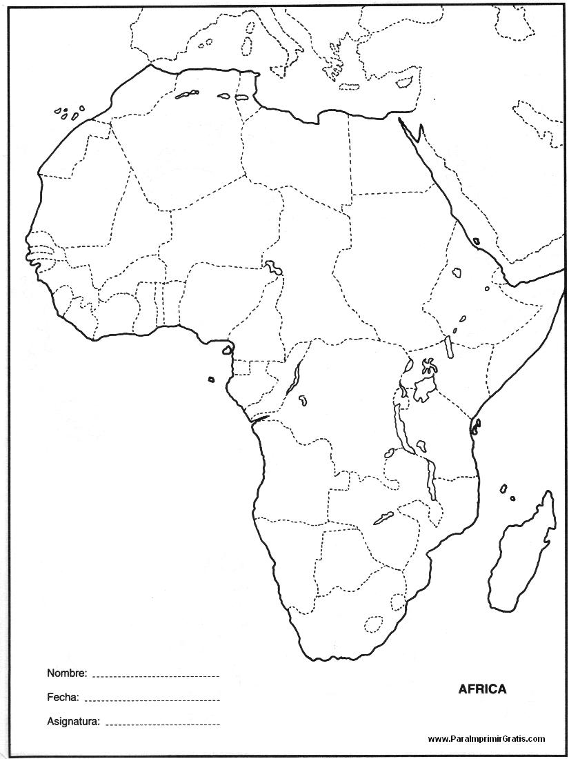 Mapa de África - Para Imprimir Gratis - ParaImprimirGratis.com