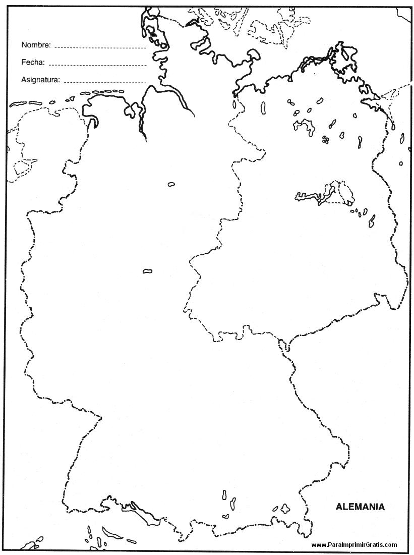 Mapa de Alemania - Para Imprimir Gratis - ParaImprimirGratis.com