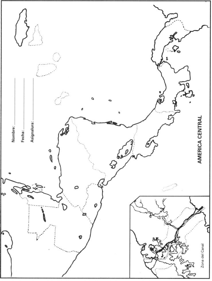Mapa De America Central