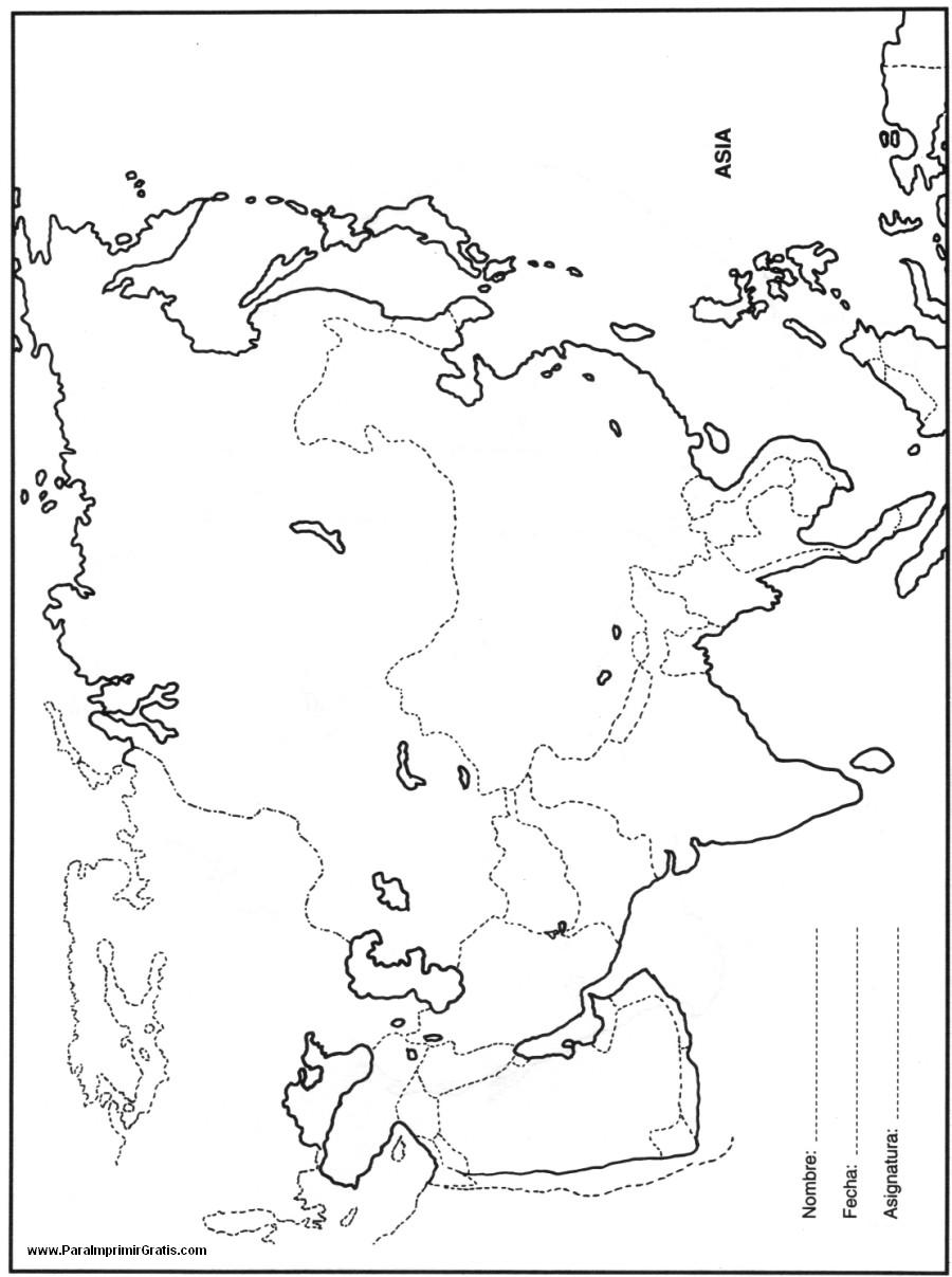 Mapa Europa Y Asia Para Colorear.Mapa De Asia Para Imprimir Gratis Paraimprimirgratis Com