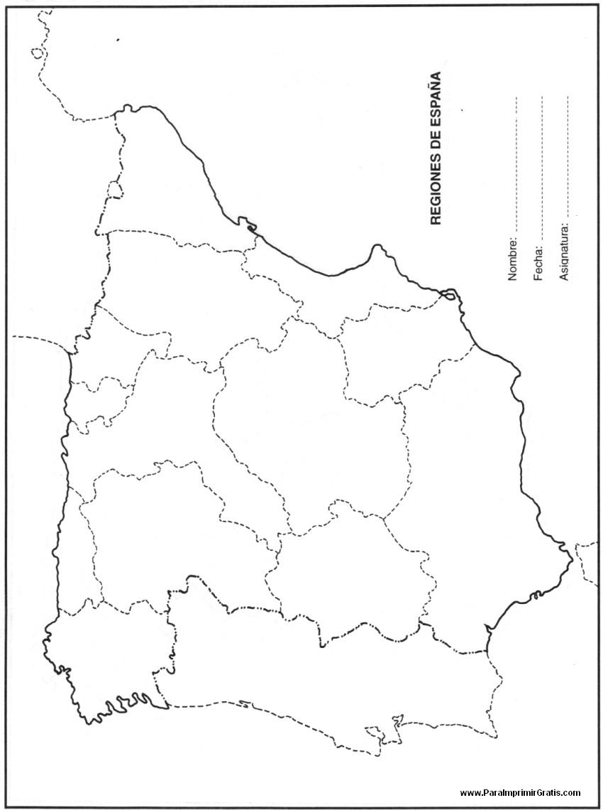 Mapa de Espaa  Para Imprimir Gratis  ParaImprimirGratiscom