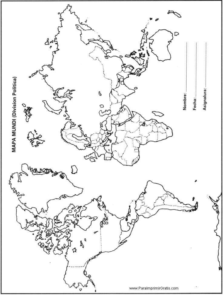 Mapa del Mundo  Para Imprimir Gratis  ParaImprimirGratiscom