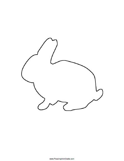 Molde de Conejo - Para Imprimir Gratis - ParaImprimirGratis.com