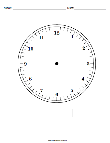 Reloj - Para Imprimir Gratis - ParaImprimirGratis.com