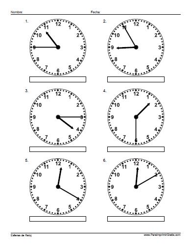 Relojes Para Imprimir Gratis Paraimprimirgratiscom