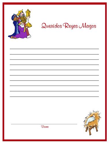 Worksheet. PARA IMPRIMIR Hojas para carta a los Reyes Magos