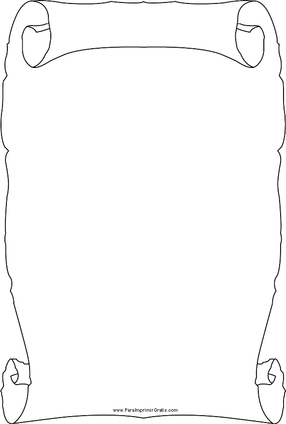 Dibujos De Pergaminos Para Imprimir