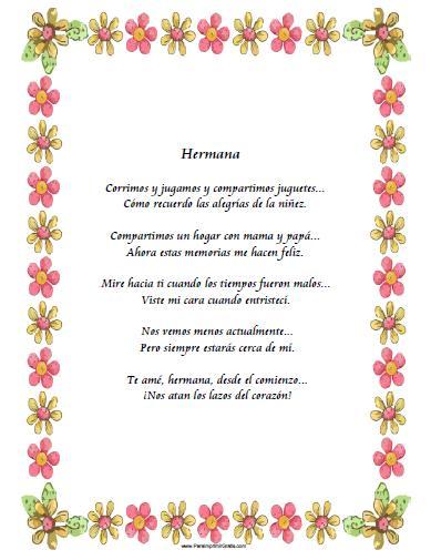 Poema De Cumple Anos Para MI Hermana