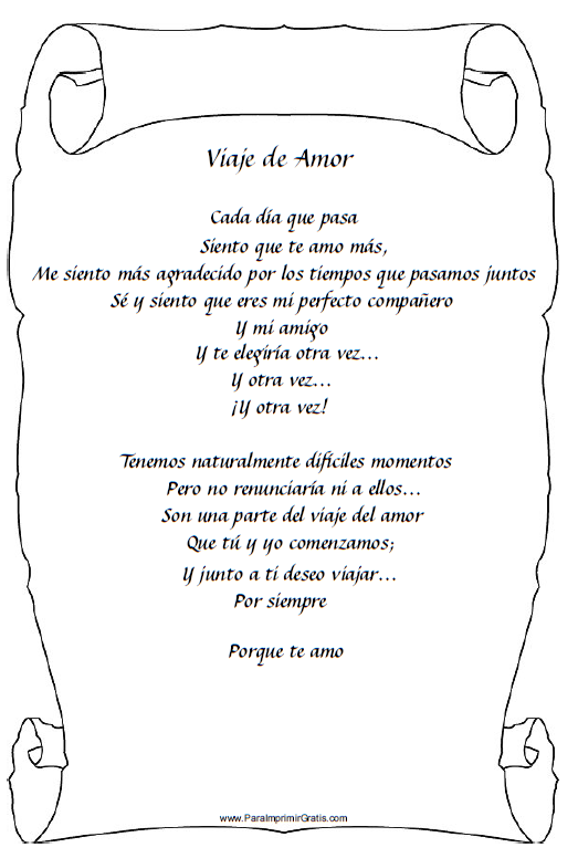 Poemas de Amor - Para Imprimir Gratis - ParaImprimirGratis.com