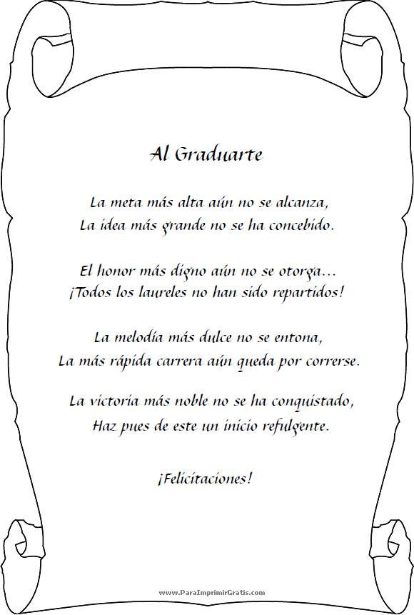 Poemas para Graduación