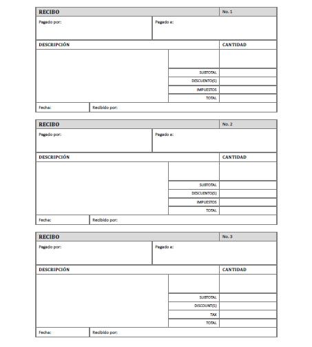 Recibo de pago para imprimir gratis for Nomina en blanco para rellenar word