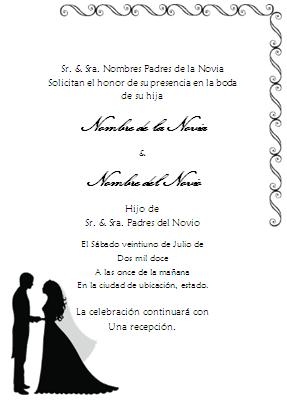 formatos para invitaciones de boda