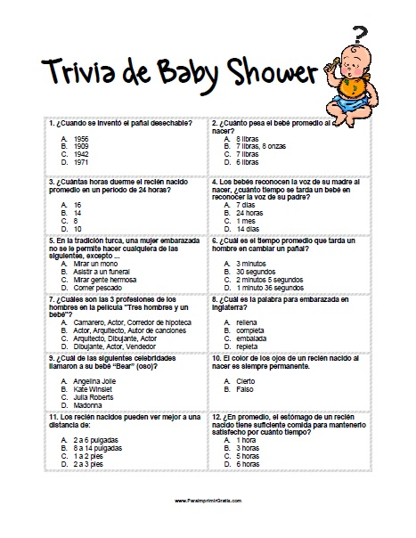 juegos para baby shower crucigrama el bebe de mama mejor conjunto de