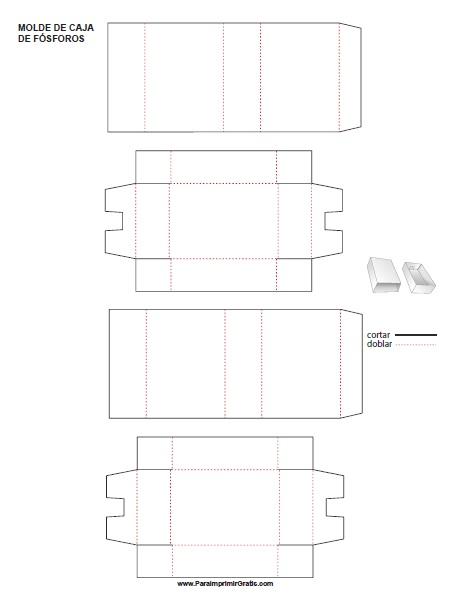 Molde de Caja de Cerillas para Imprimir Gratis
