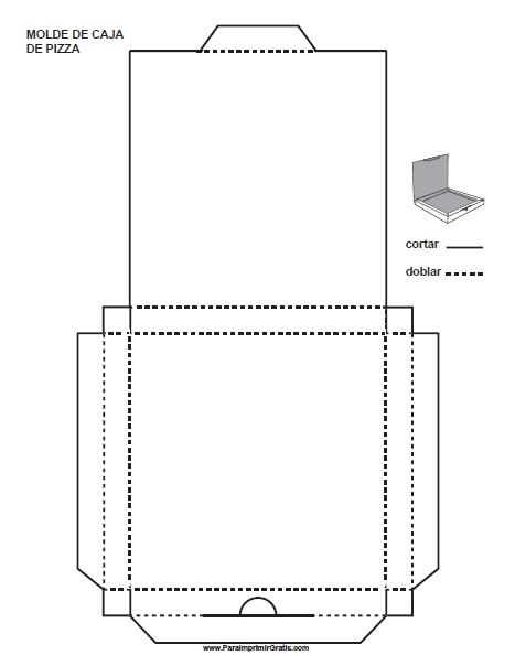 Molde de Caja de Pizza para Imprimir Gratis