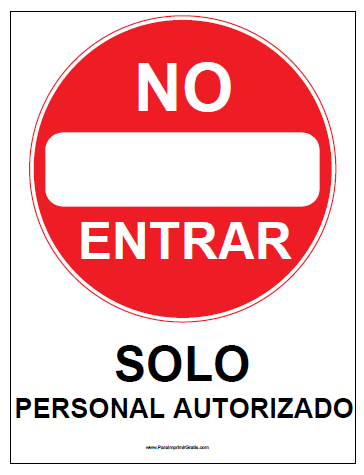 Cartel de No Entrar