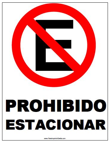 Señal De Prohibido Estacionar Para Imprimir Gratis