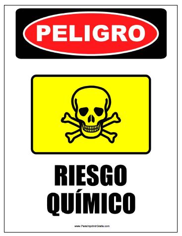 Seal de Riesgo Qumico  Para Imprimir Gratis