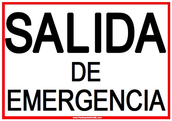 Señal de Salida de Emergencia - Para Imprimir Gratis ...